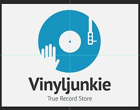 3D print model Scratch Vinyl DJ Logo