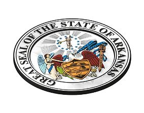 3D model Arkansas seal
