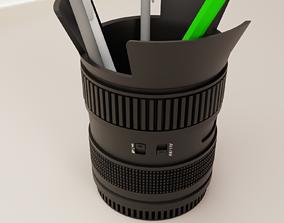 camera lens plant pot 56 3D printable model