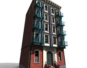 Nyc Building 12 type 2 3D asset low-poly