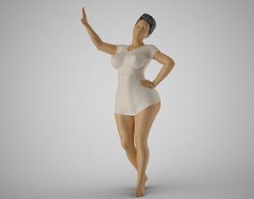 3D print model Combative Woman