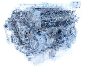 3D Animation V12 Engine