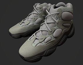 3D model YEEZY 500 High - Mist Slate - Kanye West -