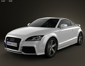 3D model city Audi TT RS Coupe 2010 with HQ Interior