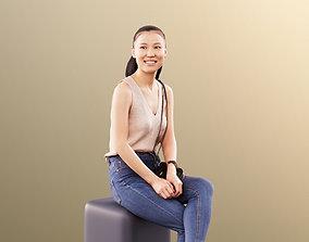 Anita 11345 - Casual Smiling Girl Sitting 3D bag