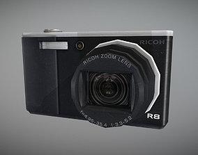 Worn Ricoh R8 Camera 3D asset