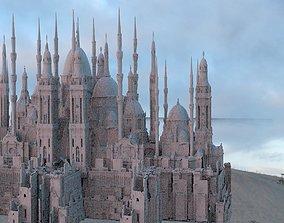 3D City Castle cathedral Complex