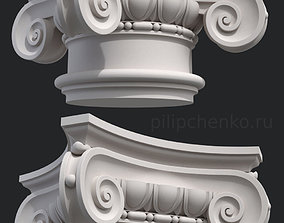 Ionic column capital 3D print model building-component