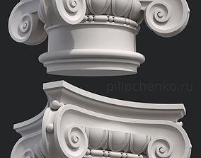 Ionic column capital 3D print model building-component