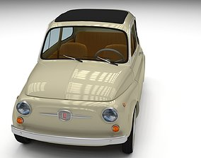 3D asset Fiat 500D Nuova 1960