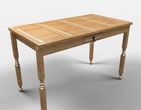 Cancun Rustic Table 3D model
