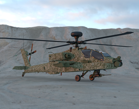 VR / AR ready AH-64D Apache Longbow 3D Model