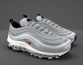 3D asset low-poly Air max 97 Nike PBR