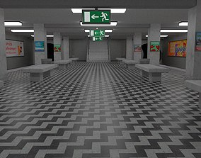 3D model Subway Staion