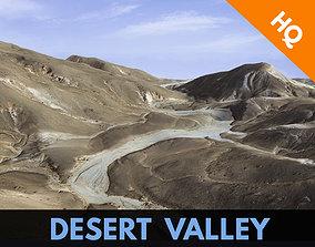 Valley Mountain Rocks Landscape Terrain Desert 3D asset 2