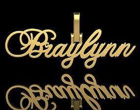 Name pendant Braylynn 3D printable model