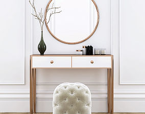 3D Dressing table with pouf