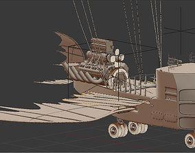 3D animated air ship