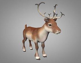 Reindeer or Christmas Deer 3D asset