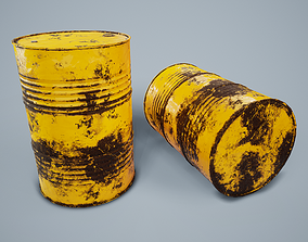 Oil Drum PBR Game Ready 3D asset