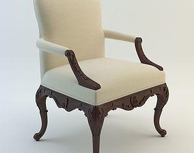 3D Ralph Lauren Home - Crested Arm Chair