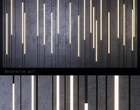 3D model embossed decorative panels with backlight PN4