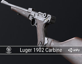 3D model PBR Luger 1902 Carbine