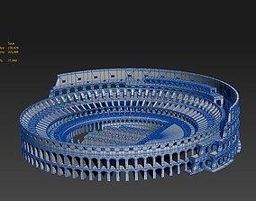 3D model Roman Colosseum Ruins