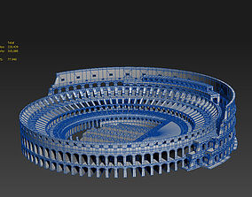 Roman Colosseum Ruins 3D model