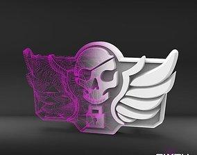 Blackwatch McCree belt buckle 3D printable model