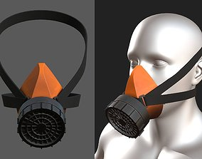 Gas mask plastic protection combat soldier scifi 3D model