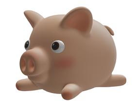 Cute Pig nature 3D