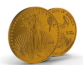 3D model Gold Eagle 50 Dollars