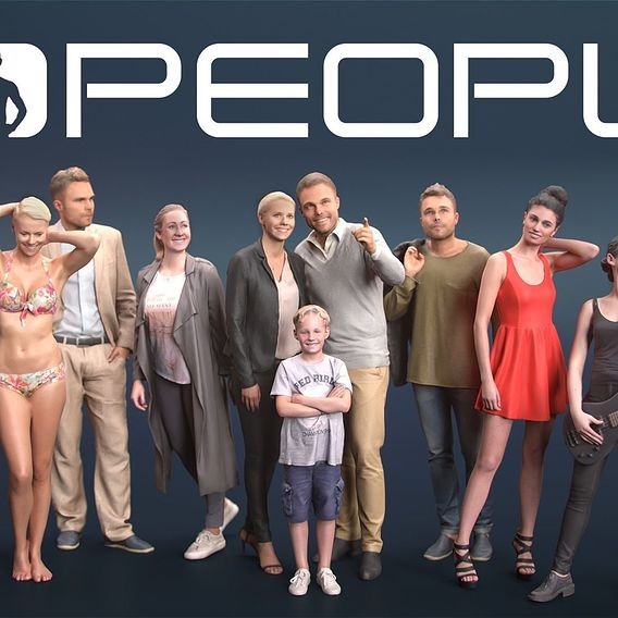 Free 3DPEOPLE NOW on CGTrader [Posed & Animated]