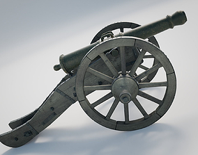 3D cannon Heavy French Field Cannon