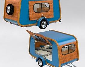 Carapate Teardrop Trailer 3D model