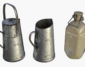 3D model German Drink Containers WWII