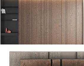 Decorative wall panel set 5 3D model