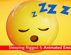 Sleeping Animated Emoji 3D asset