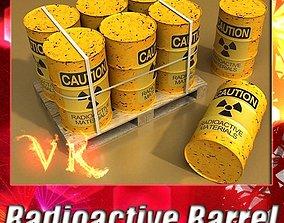3D Radioactive Metal Drums and Pallet