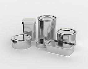 tiffin Metal Can 3D model