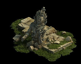 3D Traces forest Broken Statue of the Emperor 01