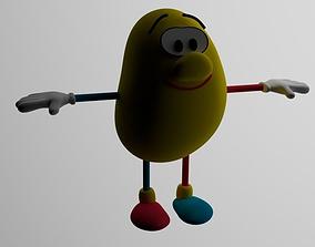 Bean bag toon 3D model