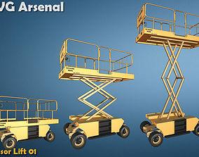 3D asset Scissor Lift - HQ
