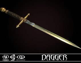 3D asset Medieval Dagger - game ready model