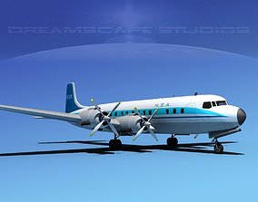 Douglas DC-7C NSA 3D model