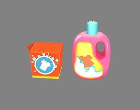 3D model Cartoon washing powder and liquid detergent