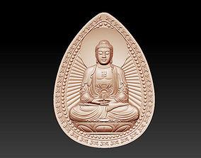 3D printable model 3d buddha pendant