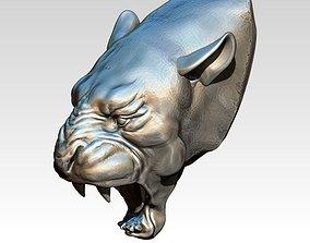 3D print model Angry Atack Cat Puma Head