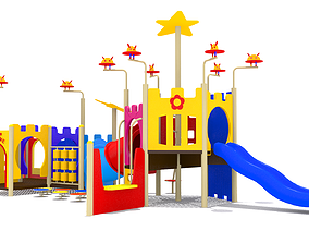 Kids Playground play 3D model game-ready